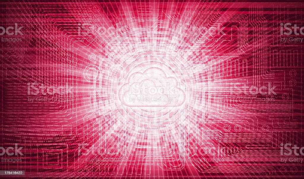 circuit cloud royalty-free stock vector art