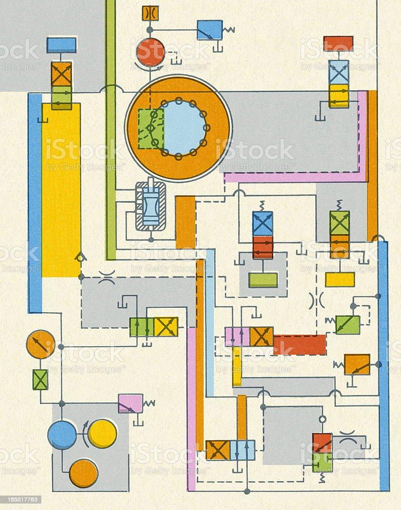 Circuit Pattern royalty-free stock vector art