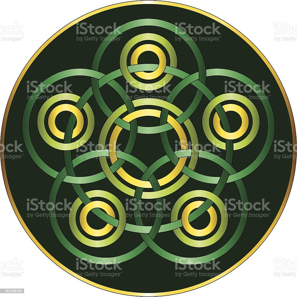 Circular Celtic Knotwork Design vector art illustration