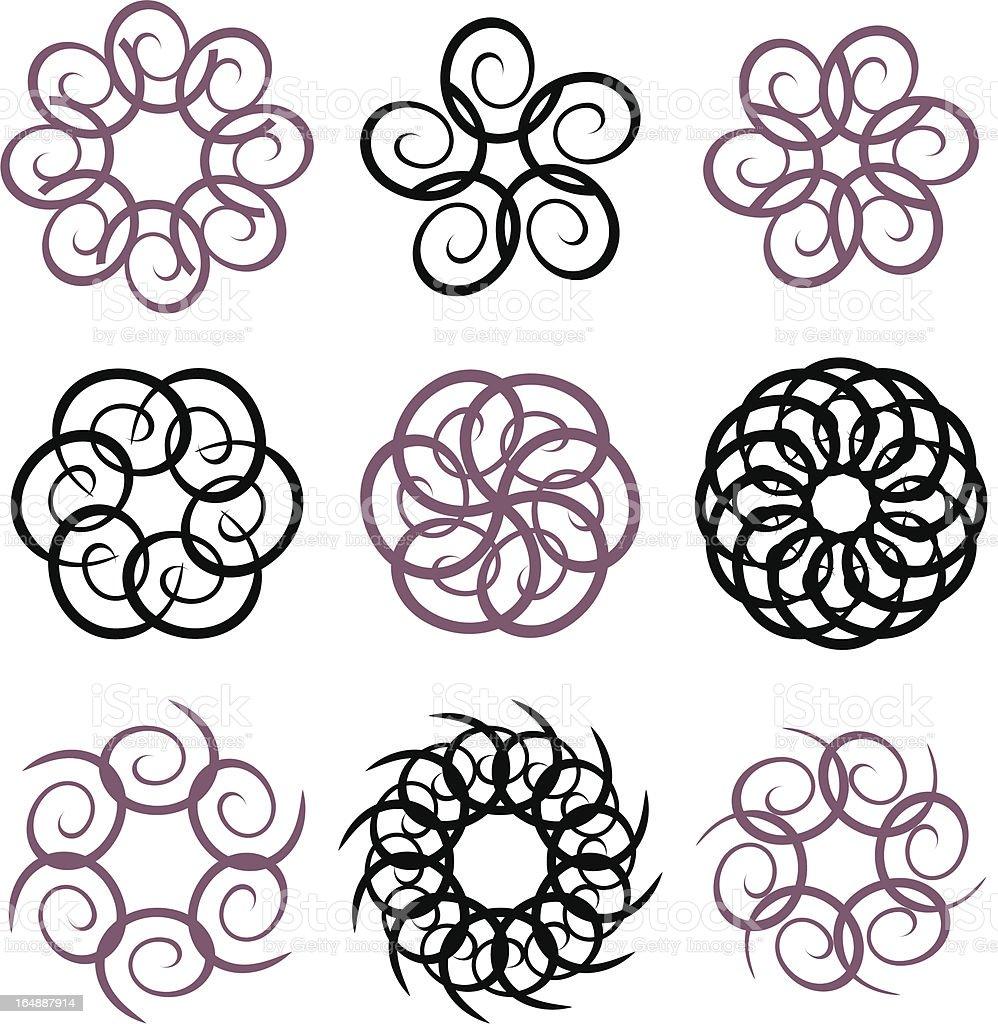Circular Design Elements #1 royalty-free stock vector art