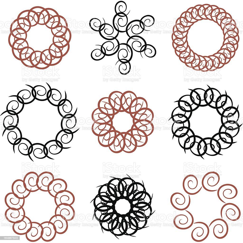 Circular Design Elements #2 royalty-free stock vector art