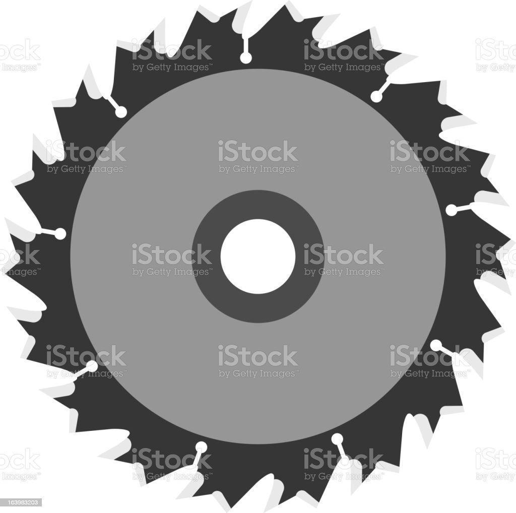 Circular saw blade royalty-free stock vector art