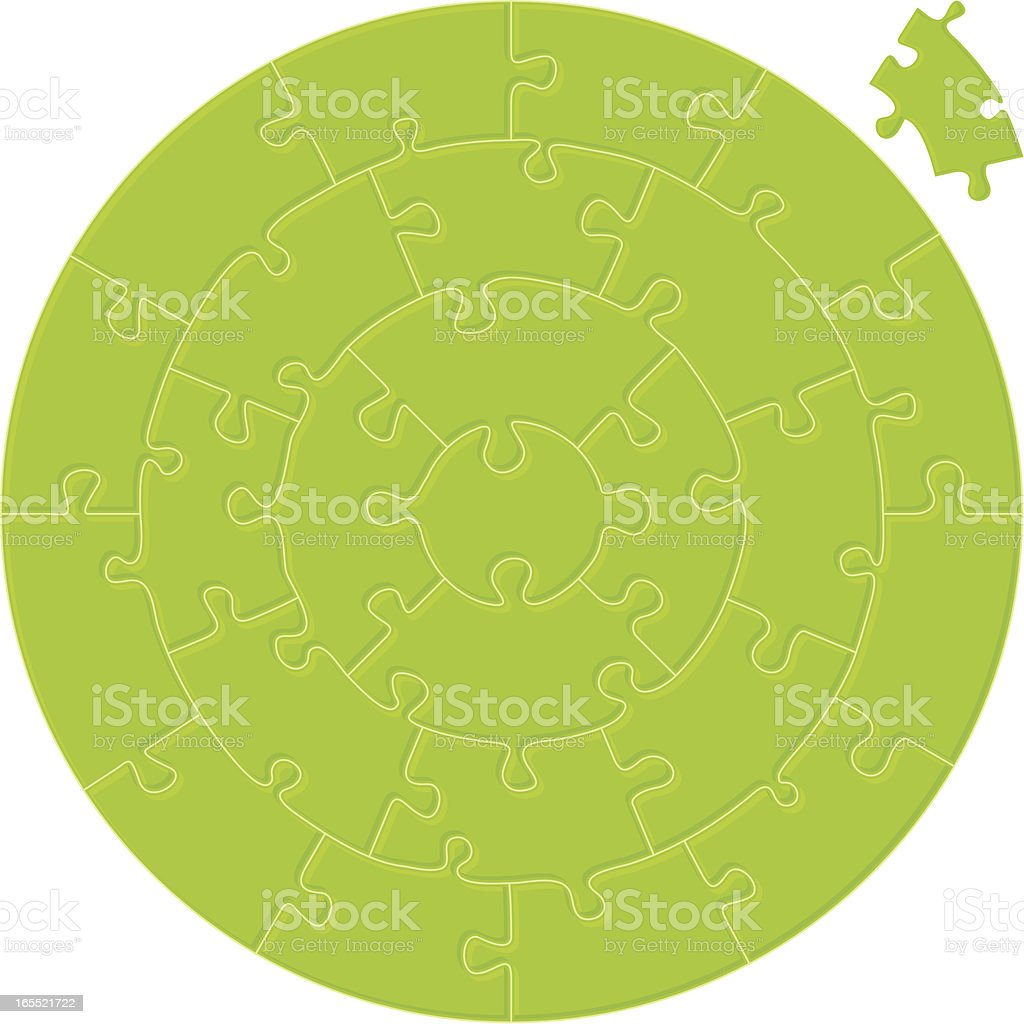 circular simple puzzle royalty-free stock vector art