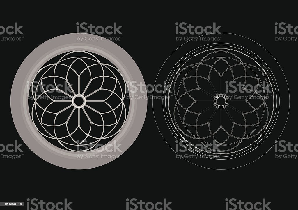 circular windows royalty-free stock vector art