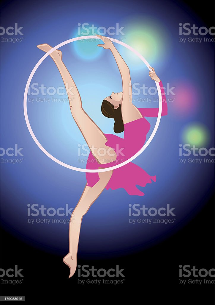 Circus acrobat royalty-free stock vector art