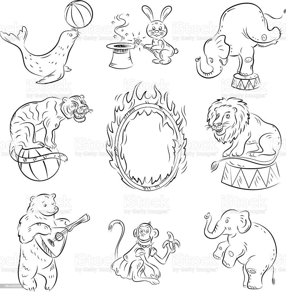Circus Animals royalty-free stock vector art