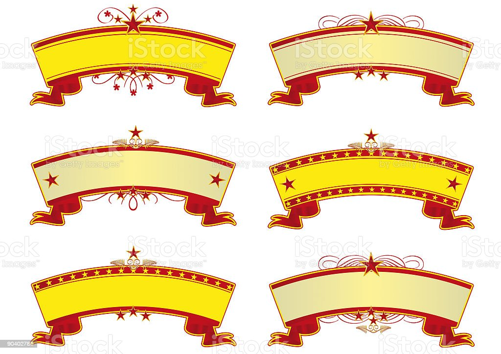 Circus banners royalty-free stock vector art