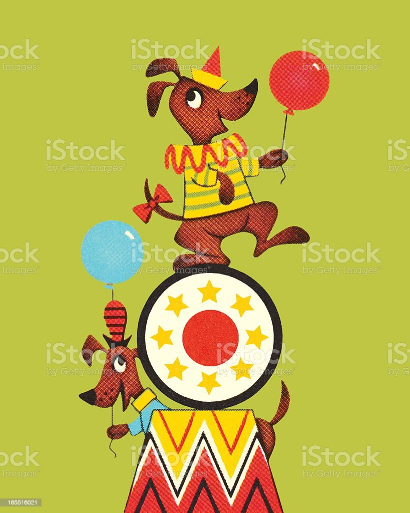 Circus Dogs royalty-free stock vector art