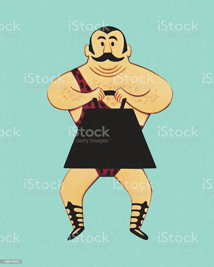 Circus Strongman royalty-free stock vector art