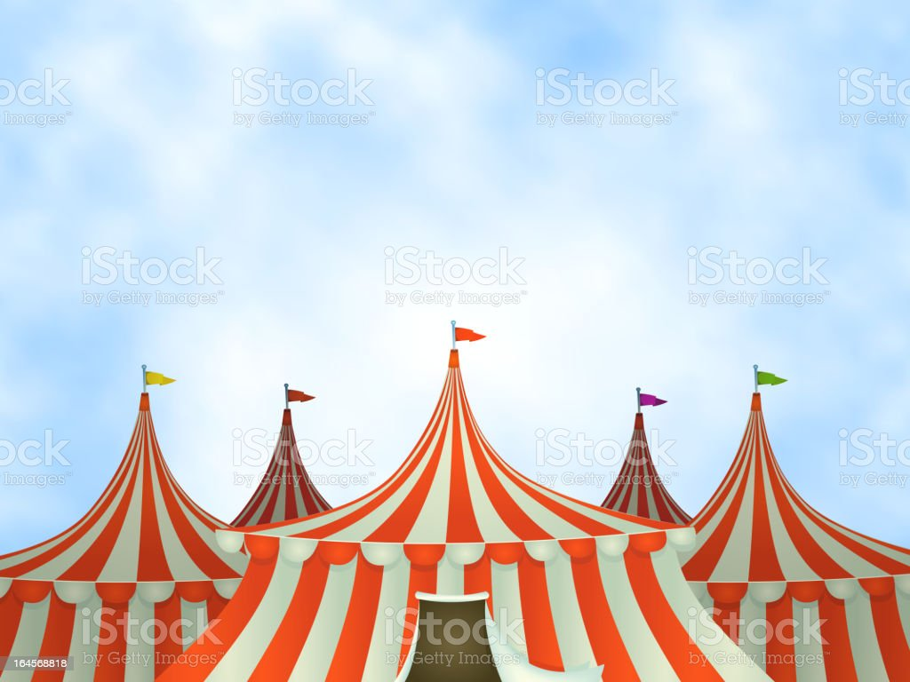 Circus Tents Background vector art illustration