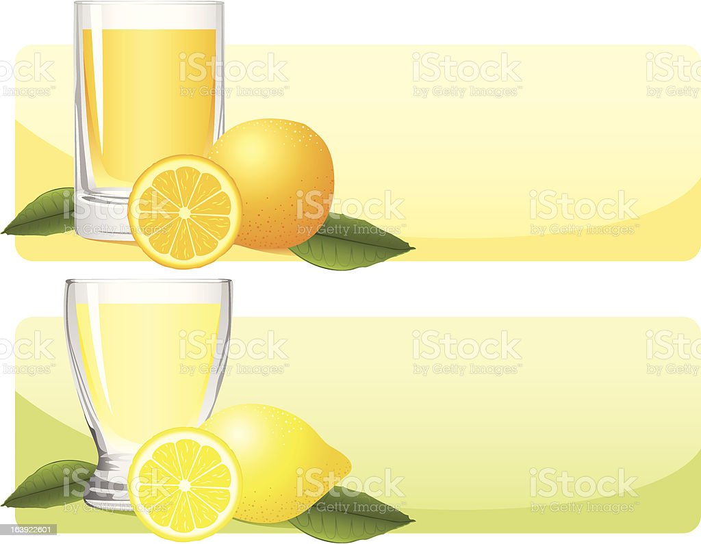Citrus Juice Set vector art illustration