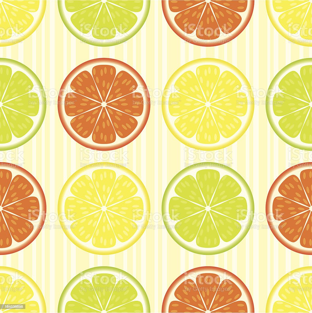 Citrus seamless pattern royalty-free stock vector art