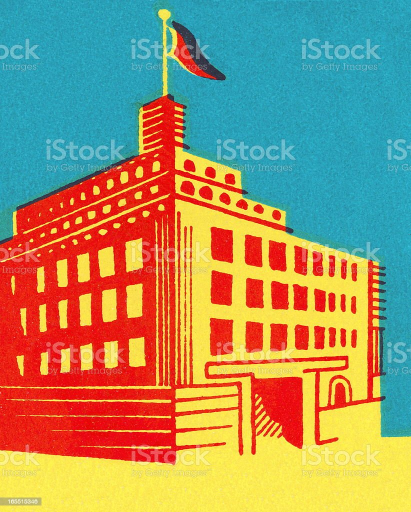 City Building royalty-free stock vector art