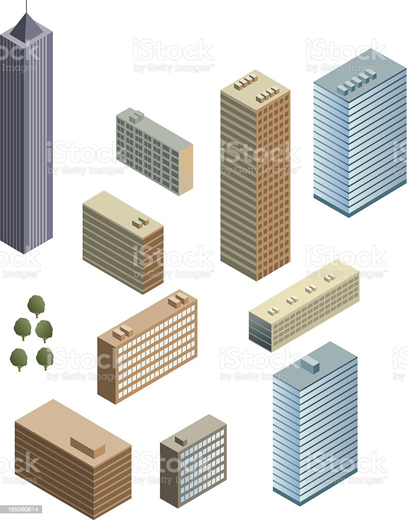 City buildings royalty-free stock vector art