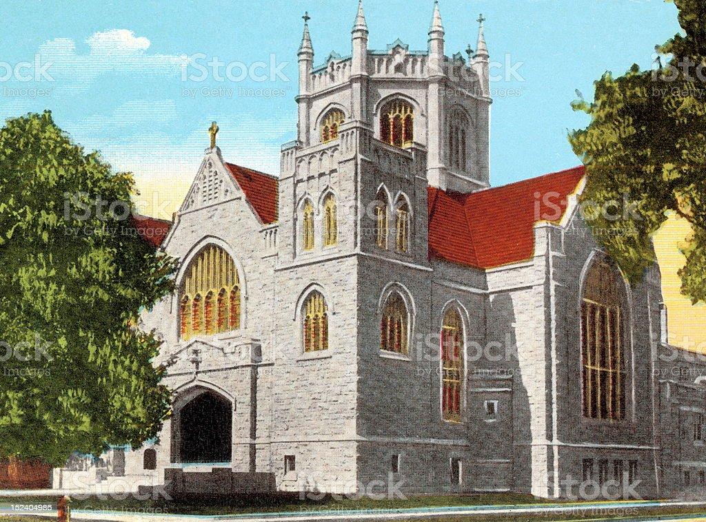 City Church royalty-free stock vector art