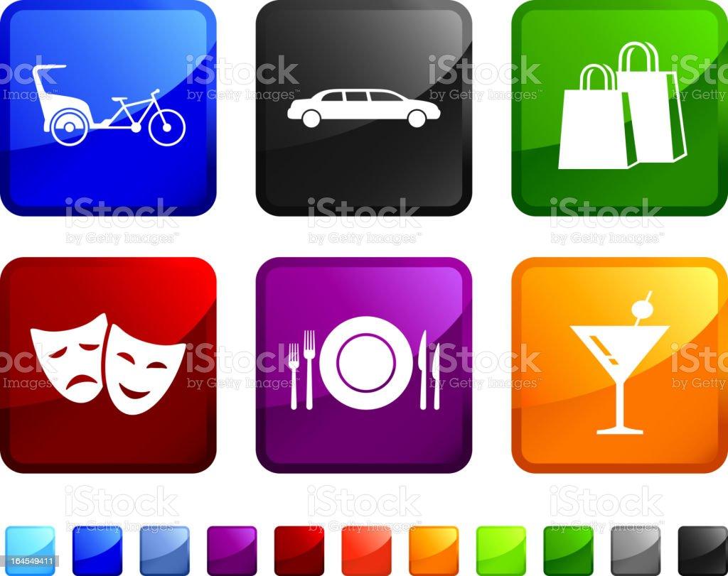 city fun royalty free vector icon set stickers vector art illustration