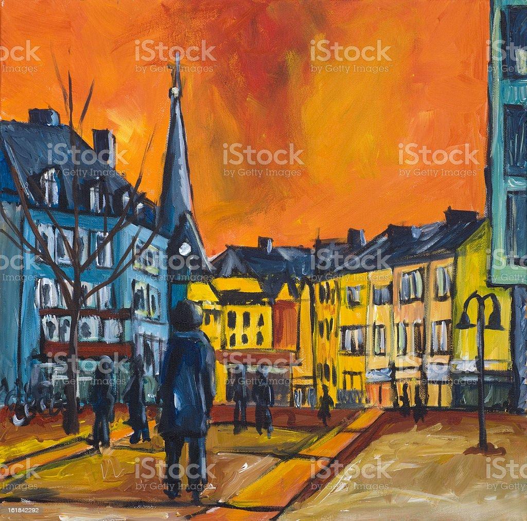 City life royalty-free stock vector art