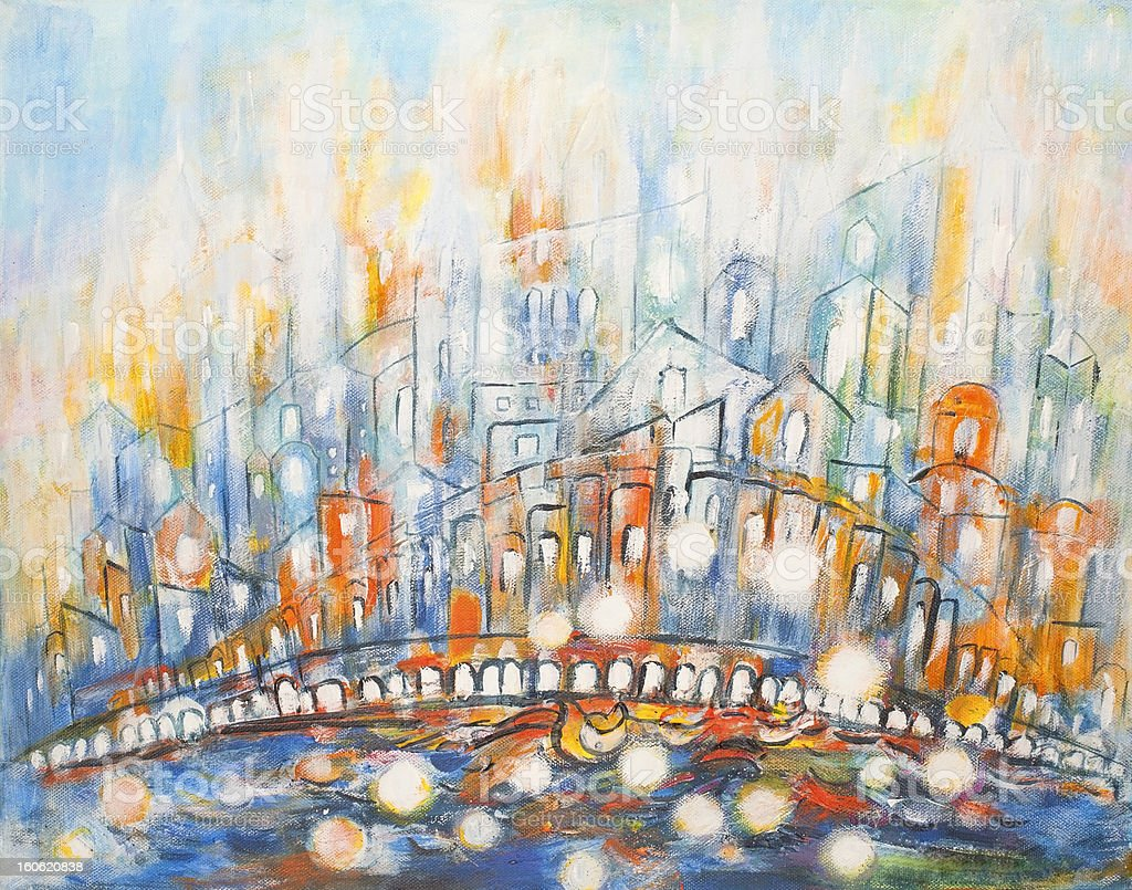 City of Light royalty-free stock vector art
