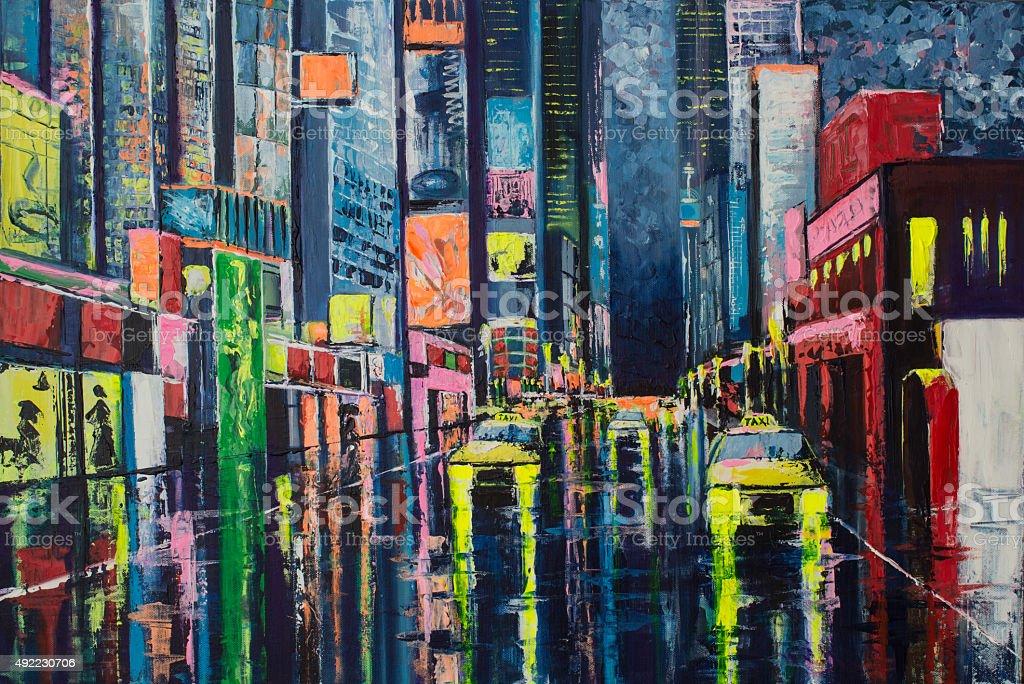 City Reflections vector art illustration