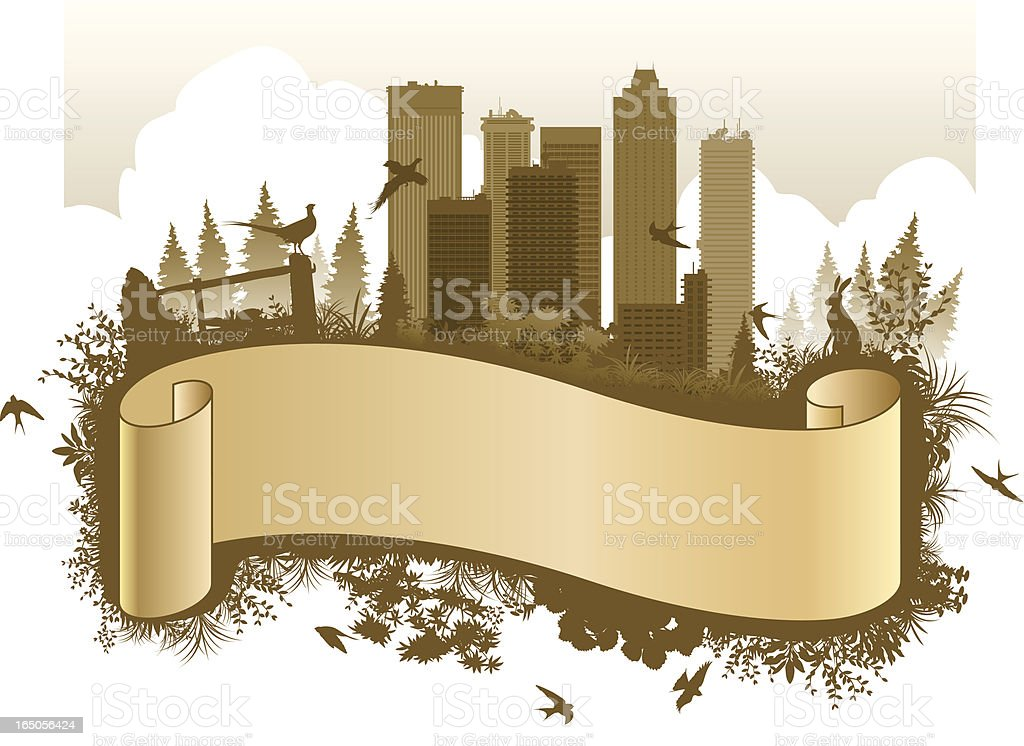 City scroll vector art illustration