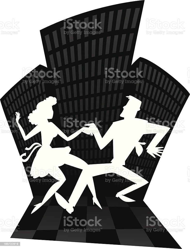 city swing dance royalty-free stock vector art