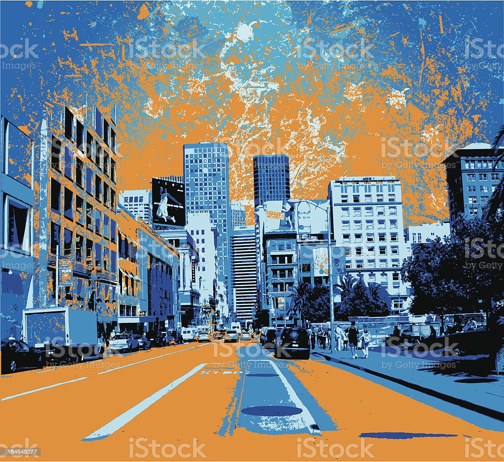 city#3 vector art illustration