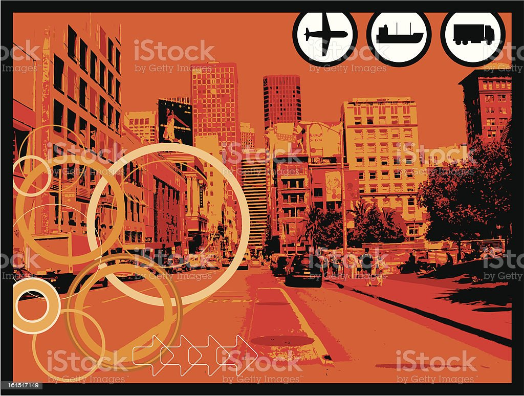City#4 royalty-free stock vector art