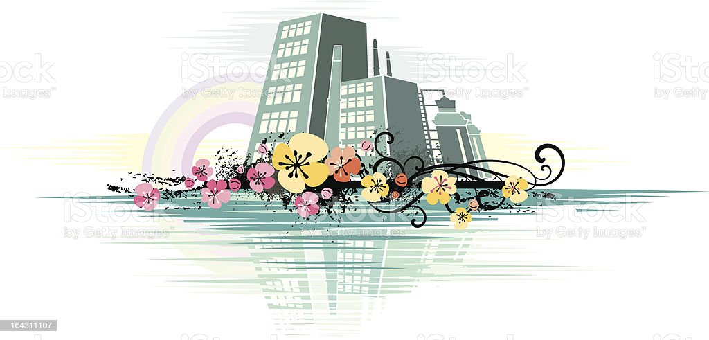 Cityscape Background royalty-free stock vector art