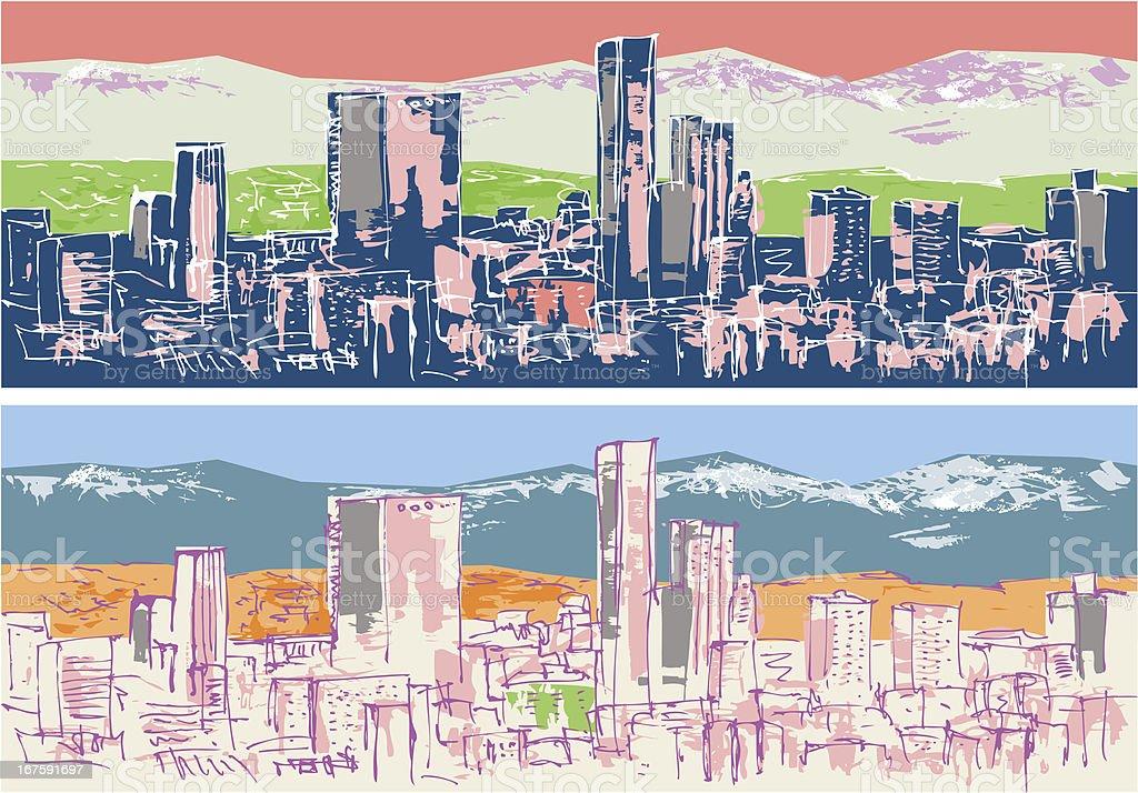 Cityscape - LA vector art illustration