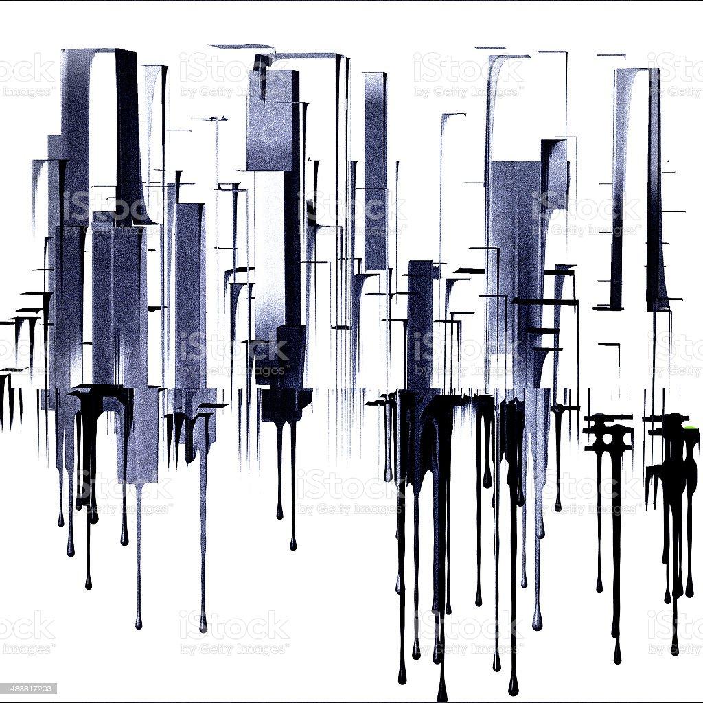 Cityscape vector art illustration