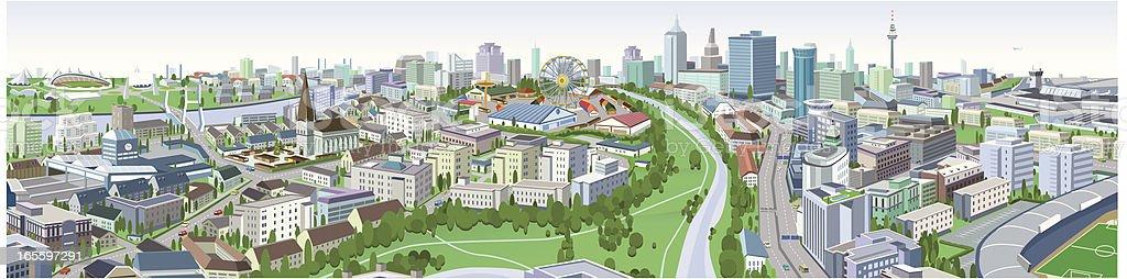 Cityscape Illustration vector art illustration