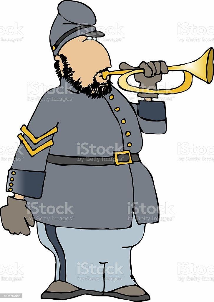 Civil war bugler royalty-free stock vector art