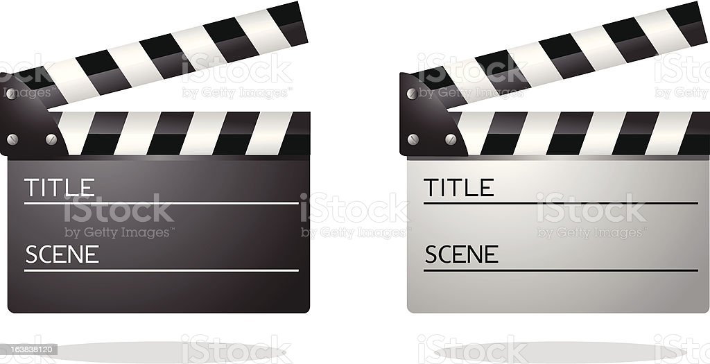 Clapboards royalty-free stock vector art