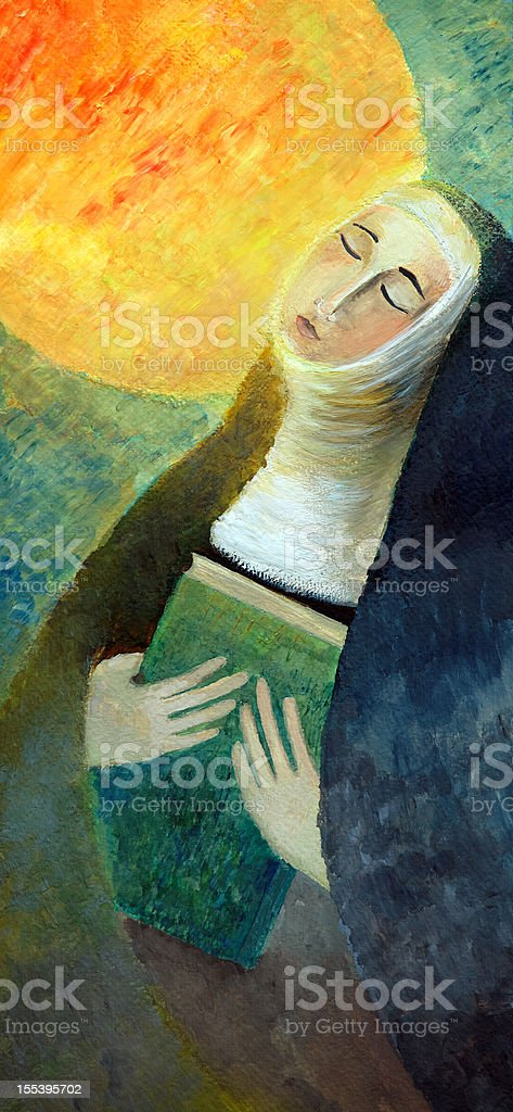 Clare of Assisi vector art illustration