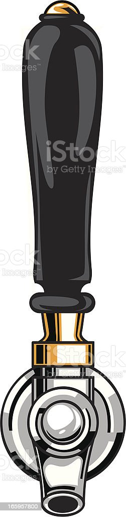 classic beer tap vector art illustration