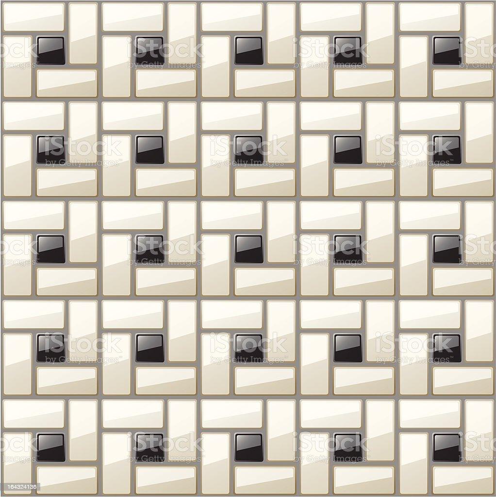 klassische schwarze weiße badezimmer fliesenmuster vektor, Hause ideen
