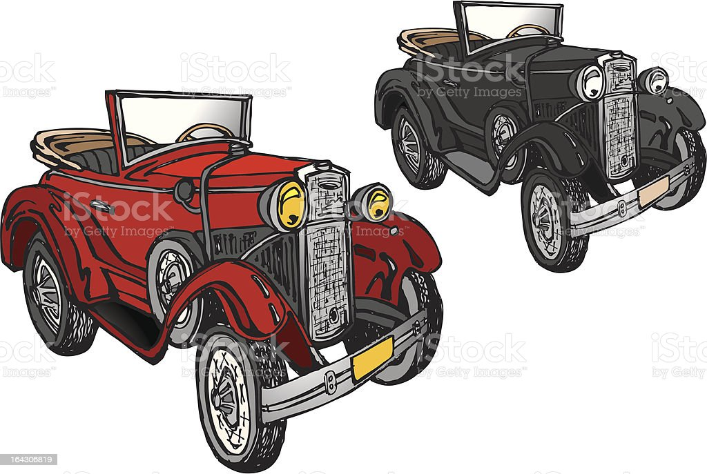 Classic Car - Model A vector art illustration