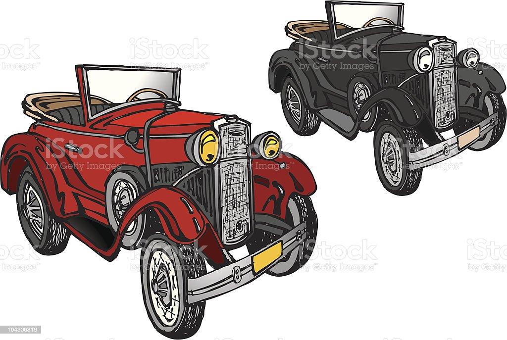 Classic Car - Model A vector art illustration