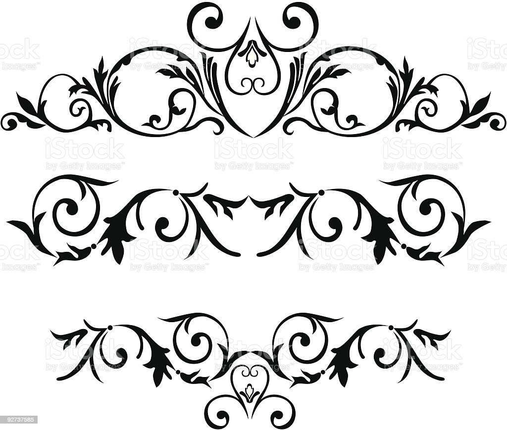 Classic decorative elements royalty-free stock vector art