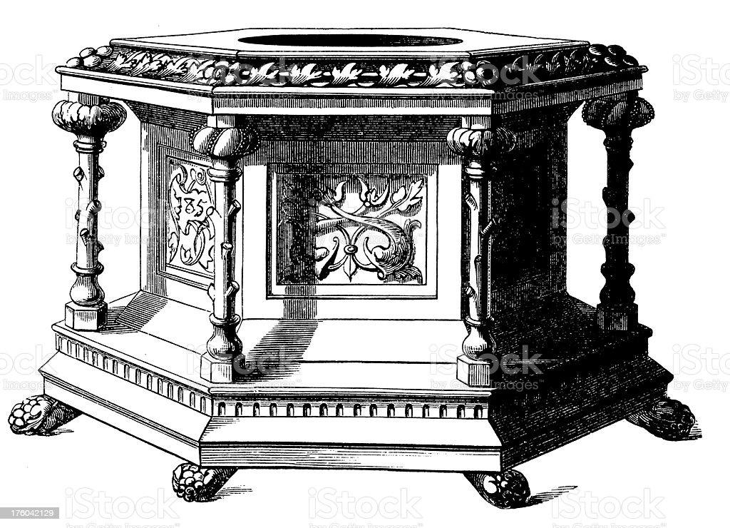 clsicos muebles antiguos de diseo e libre de derechos libre de derechos