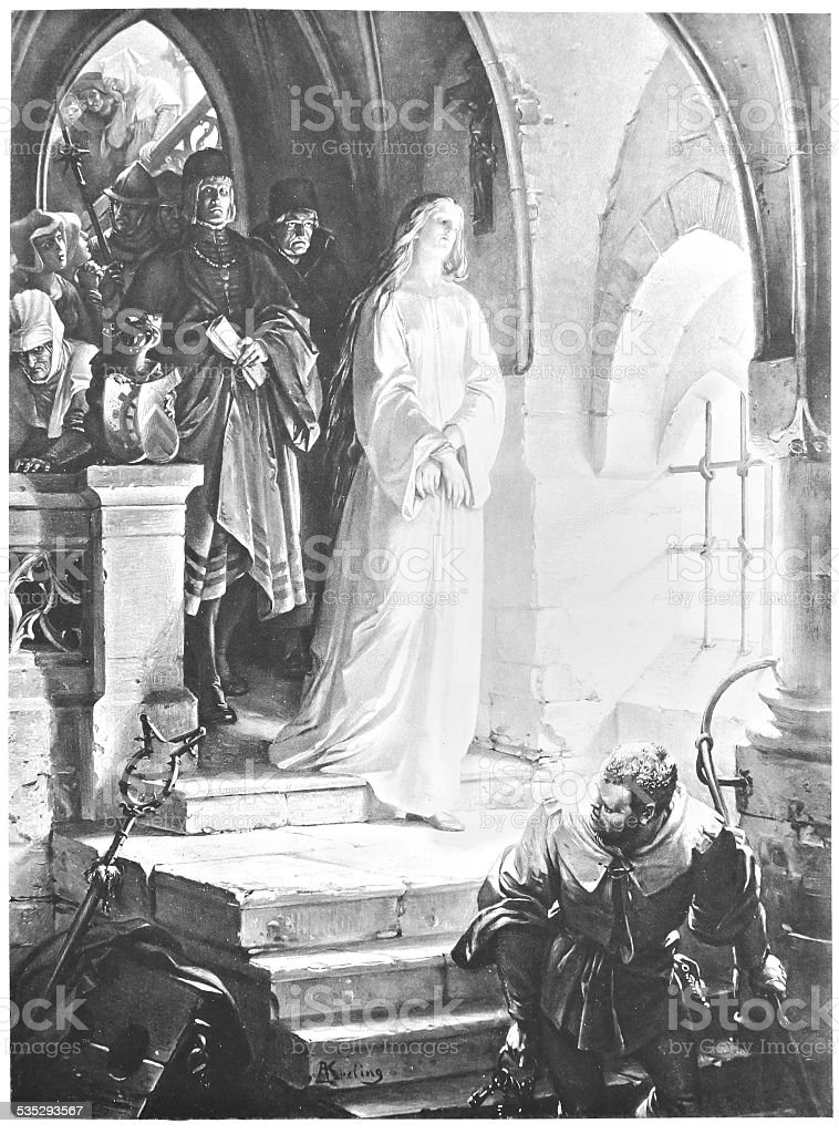 Classic illustration from 'Faust' vector art illustration