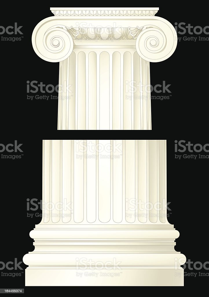 classic ionic column royalty-free stock vector art