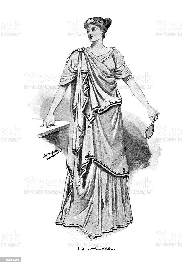 Classic Toga Costume vector art illustration
