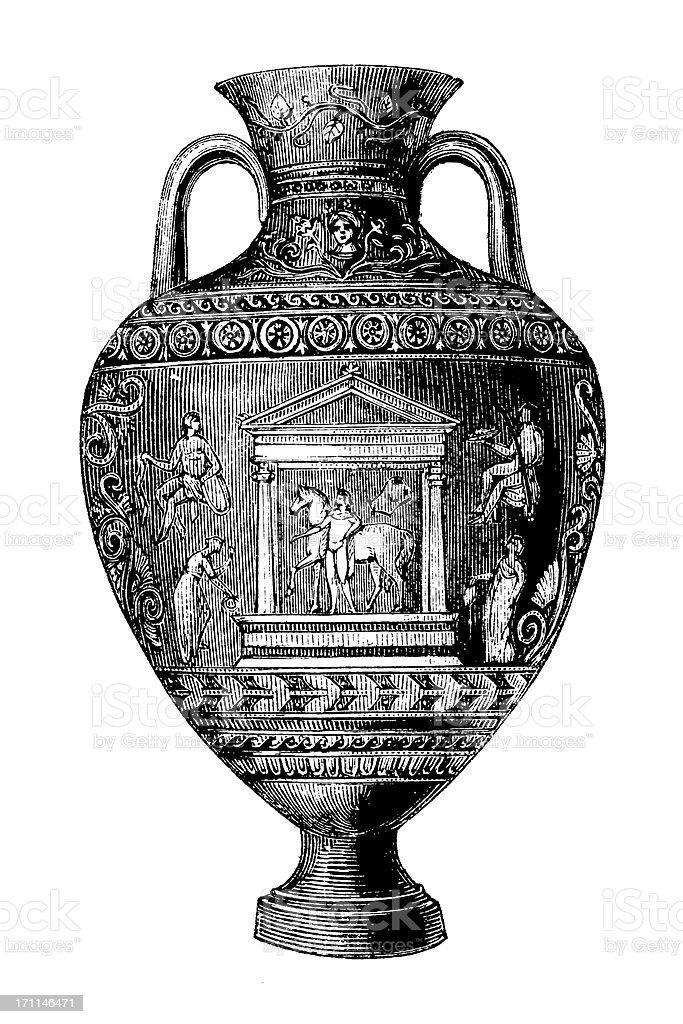 Classic Vase   Antique Design Illustrations royalty-free stock vector art