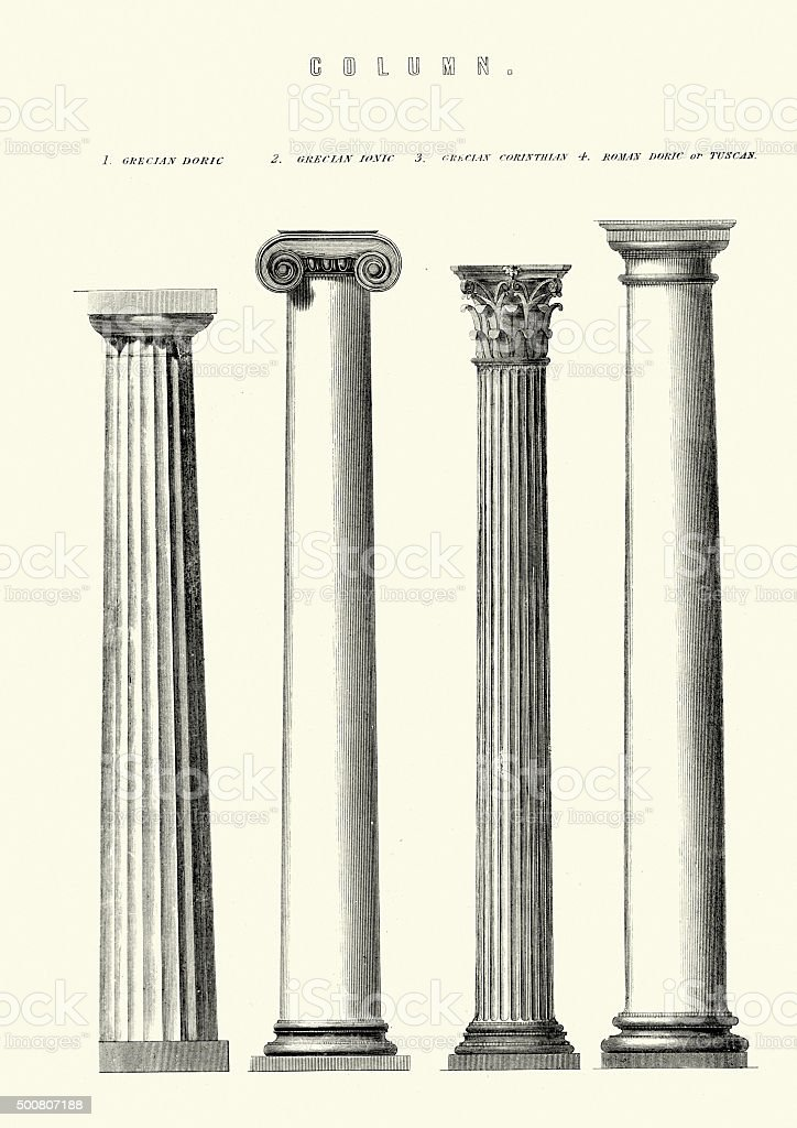 Classical Architecture - Columns vector art illustration