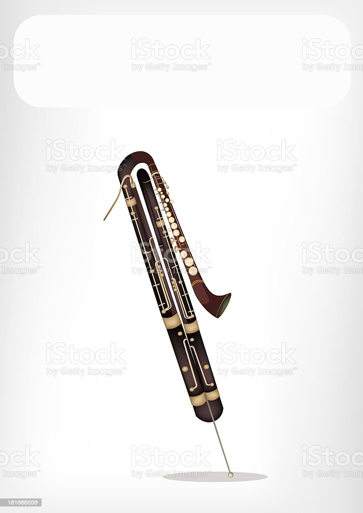 Classical Contrabassoon with A White Banner royalty-free stock vector art