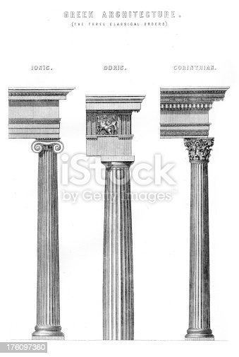 Classical Greek Architecture Columns Stock Vector Art