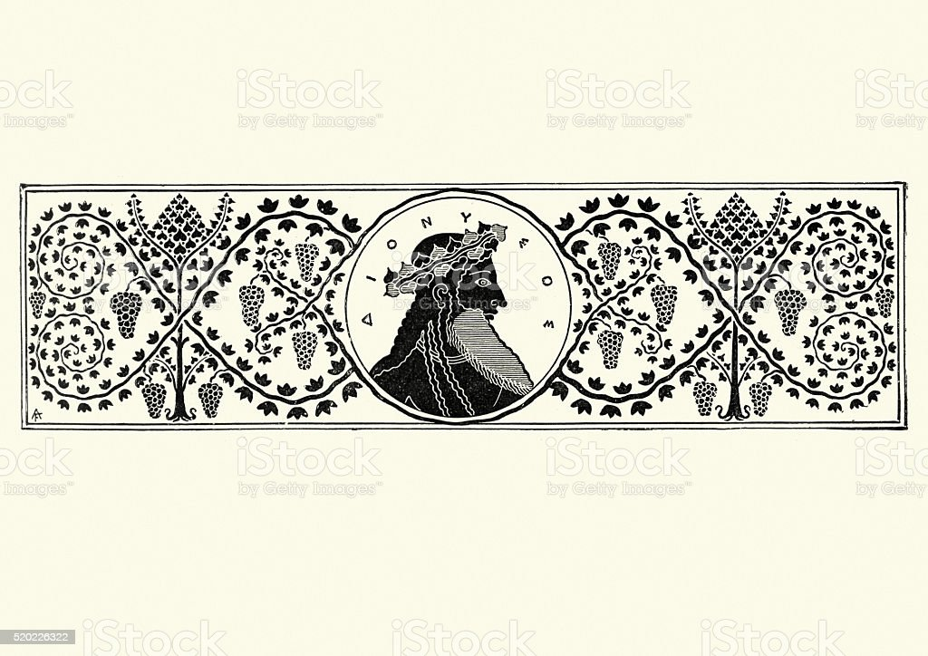 Classical Greek style banner vector art illustration