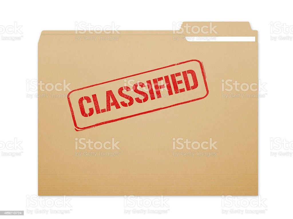 Classified Folder vector art illustration