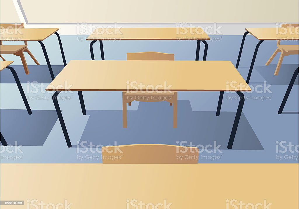 Classroom tables royalty-free stock vector art